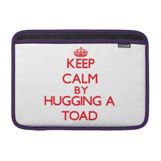 Keep calm by hugging a Toad MacBook Sleeves
