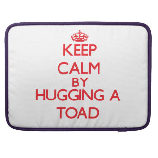 Keep calm by hugging a Toad Sleeve For MacBook Pro