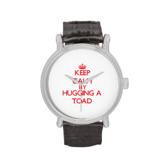 Keep calm by hugging a Toad Wrist Watches