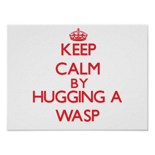 Keep calm by hugging a Wasp Posters
