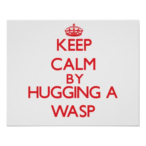 Keep calm by hugging a Wasp Print