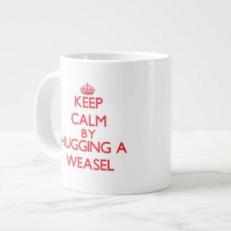 Keep calm by hugging a Weasel Jumbo Mug