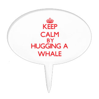 Keep calm by hugging a Whale Cake Toppers