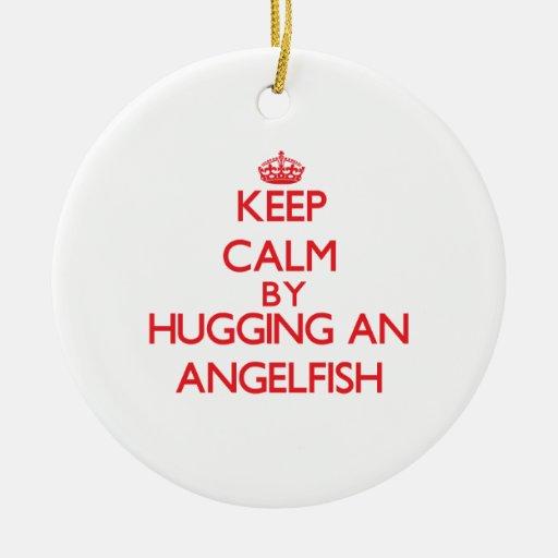 Keep calm by hugging an Angelfish Christmas Tree Ornaments