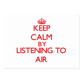 Keep calm by listening to AIR Business Card Templates