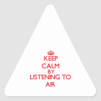 Keep calm by listening to AIR Sticker