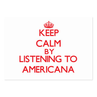 Keep calm by listening to AMERICANA Business Card Templates