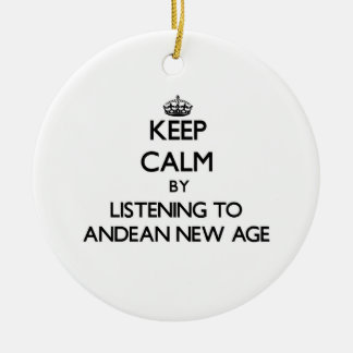 Keep calm by listening to ANDEAN NEW AGE Christmas Tree Ornaments
