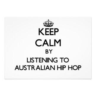 Keep calm by listening to AUSTRALIAN HIP HOP Custom Invitation