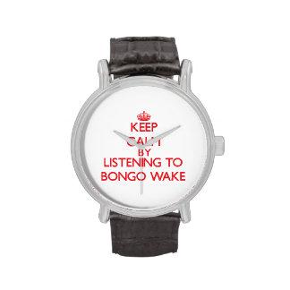 Keep calm by listening to BONGO WAKE Wrist Watches