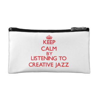 Keep calm by listening to CREATIVE JAZZ Cosmetics Bags