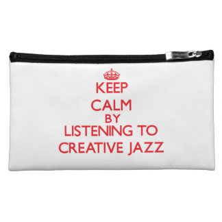 Keep calm by listening to CREATIVE JAZZ Cosmetic Bags