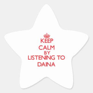 Keep calm by listening to DAINA Star Sticker