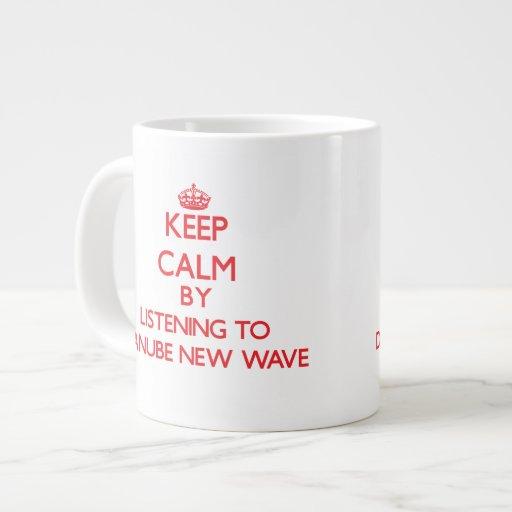 Keep calm by listening to DANUBE NEW WAVE Jumbo Mug