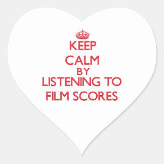 Keep calm by listening to FILM SCORES Sticker