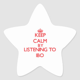 Keep calm by listening to IBO Star Stickers