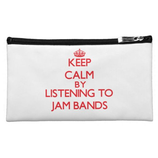 Keep calm by listening to JAM BANDS Cosmetic Bags