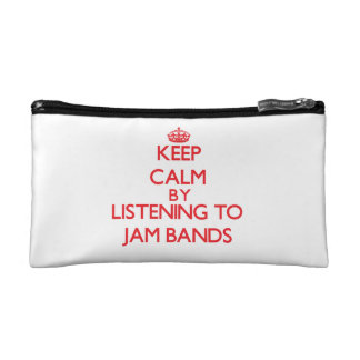 Keep calm by listening to JAM BANDS Cosmetics Bags