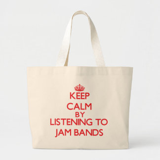 Keep calm by listening to JAM BANDS Tote Bag