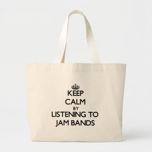 Keep calm by listening to JAM BANDS Canvas Bags