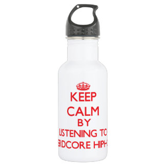 Keep calm by listening to NERDCORE HIPHOP 532 Ml Water Bottle