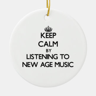 Keep calm by listening to NEW AGE MUSIC Christmas Ornament