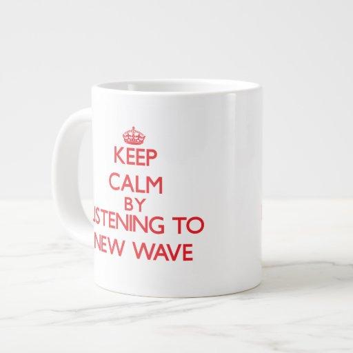 Keep calm by listening to NEW WAVE Jumbo Mug