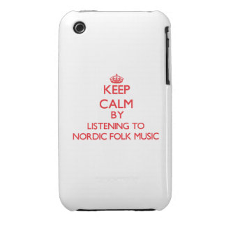 Keep calm by listening to NORDIC FOLK MUSIC iPhone 3 Case