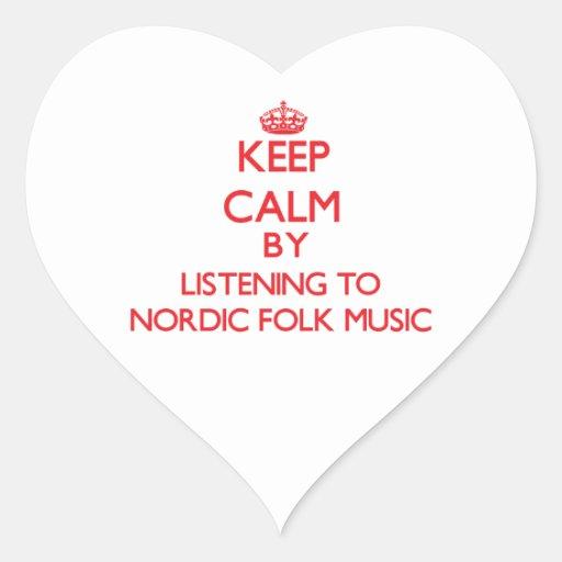 Keep calm by listening to NORDIC FOLK MUSIC Sticker