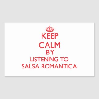 Keep calm by listening to SALSA ROMANTICA Sticker