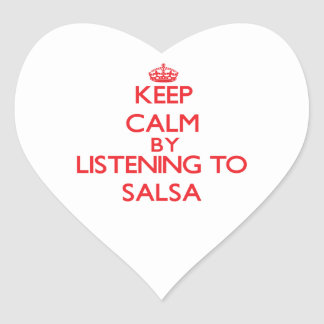 Keep calm by listening to SALSA Stickers
