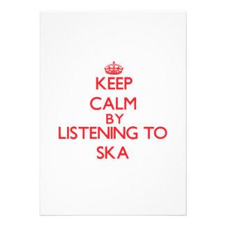 Keep calm by listening to SKA Custom Invitation
