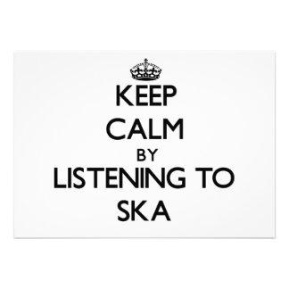 Keep calm by listening to SKA Custom Announcement