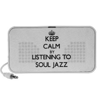 Keep calm by listening to SOUL JAZZ Notebook Speakers