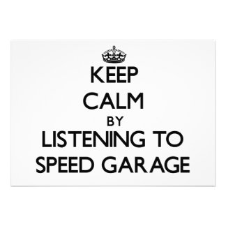 Keep calm by listening to SPEED GARAGE Announcement