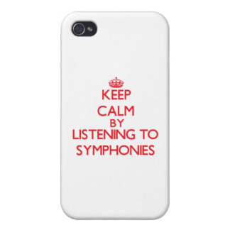 Keep calm by listening to SYMPHONIES iPhone 4/4S Cases