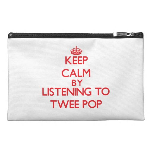 Keep calm by listening to TWEE POP Travel Accessory Bags