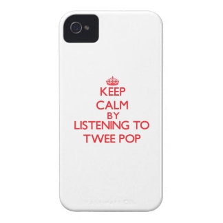 Keep calm by listening to TWEE POP iPhone 4 Cover