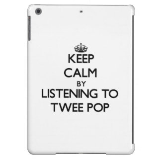 Keep calm by listening to TWEE POP iPad Air Cases