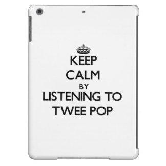 Keep calm by listening to TWEE POP iPad Air Cases