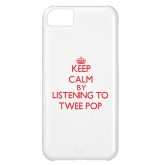 Keep calm by listening to TWEE POP iPhone 5C Covers