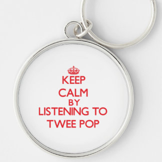 Keep calm by listening to TWEE POP Key Chain