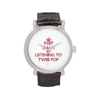 Keep calm by listening to TWEE POP Wristwatch
