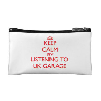 Keep calm by listening to UK GARAGE Cosmetics Bags