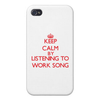 Keep calm by listening to WORK SONG iPhone 4/4S Covers
