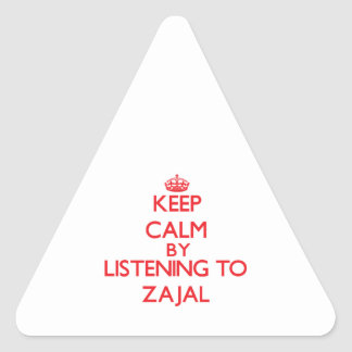 Keep calm by listening to ZAJAL Triangle Stickers