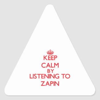 Keep calm by listening to ZAPIN Sticker