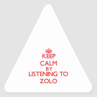 Keep calm by listening to ZOLO Triangle Sticker