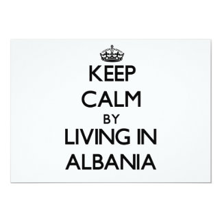Keep Calm by Living in Albania 5x7 Paper Invitation Card