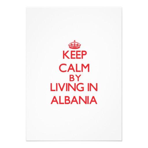 Keep Calm by living in Albania Custom Announcement